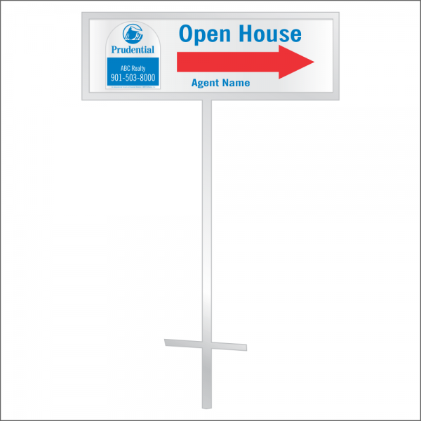 8x24 Personalized Directional Panel - D4 (2-color)