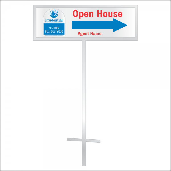 8x24 Personalized Directional Panel - D5 (2-color)