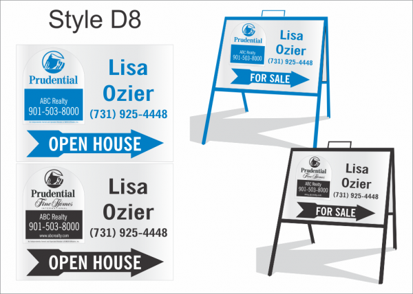 Style D8 (1-color) - 1-Color Panels (Prudential & Fine Homes) - OPEN ...