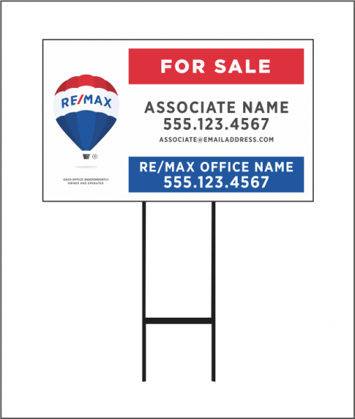 Double Coroplast® Yard Sign & Stand