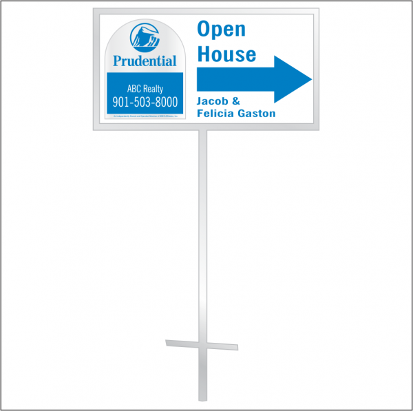 12x24 Personalized Directional Panel - Style D2 (1-color)