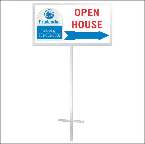12x24 Personalized Directional Panel - Style D6 (2-color)