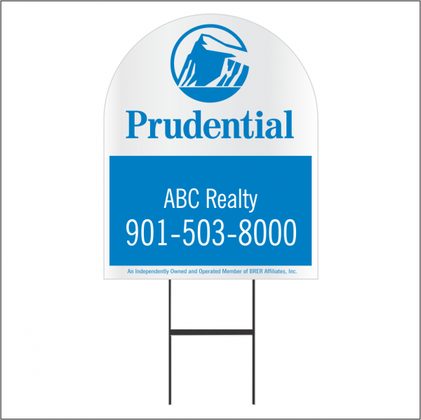 30x24 Dome Shaped Yard Sign Combo Unit