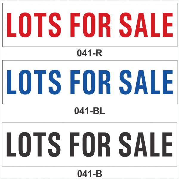 LOTS FOR SALE (SRID-041)