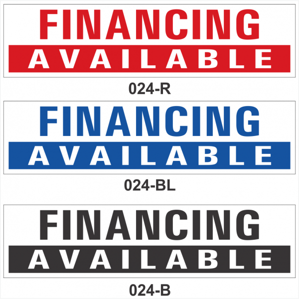 FINANCING AVAILABLE (SRID-024)