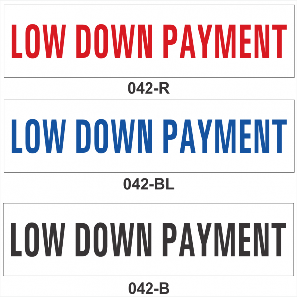 LOW DOWN PAYMENT (SRID-042)