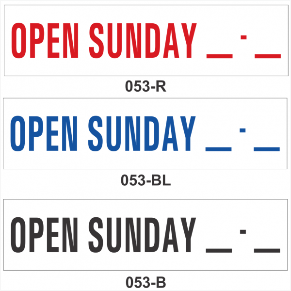 OPEN SUNDAY __-__ (SRID-053)