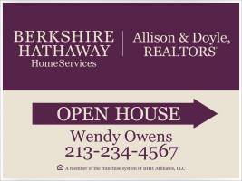 Berkshire Hathaway Homeservices Real Estate Signs From Design Team Sign Company