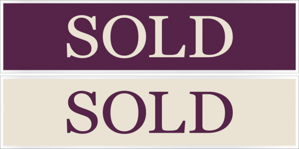 6x24 Cabernet/Cream Stock Rider - SOLD