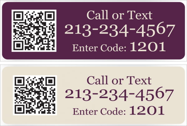8x24 Cabernet/Cream Text Riders with QR Code
