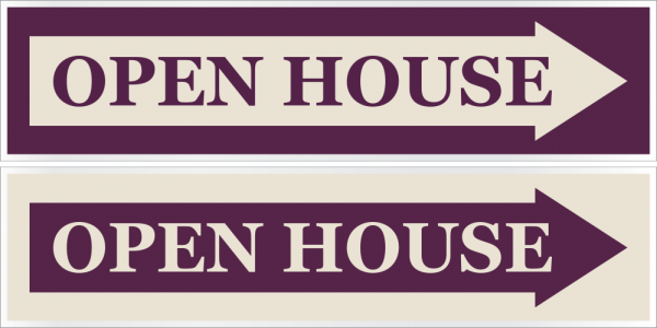 6x24 Cabernet/Cream Stock Rider - OPEN HOUSE w/ARROW