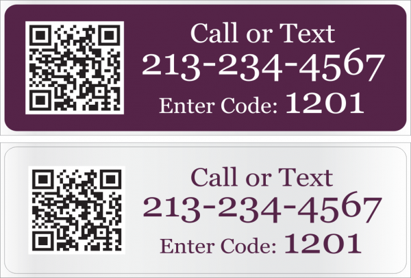 8x24 Cabernet/White Text Riders with QR Code