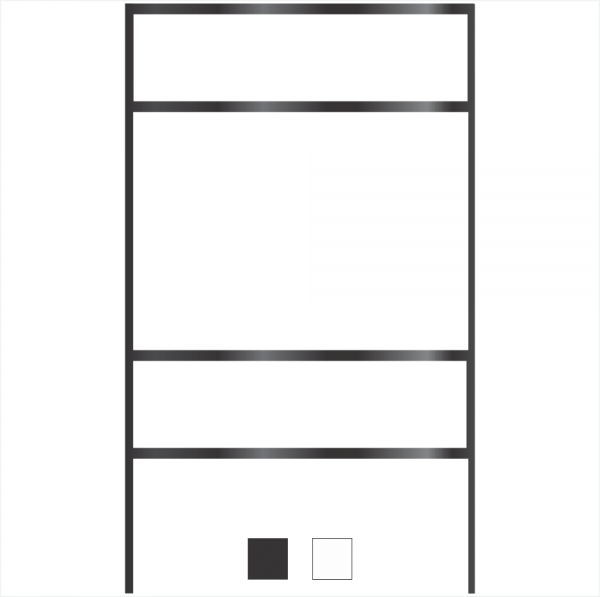18x24 Frame with Top/Bottom Rider Slots - 18x24 Frames - Frames ...
