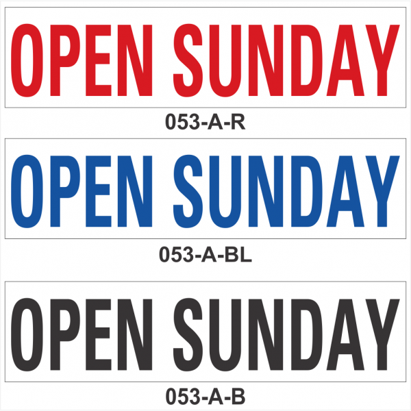 OPEN SUNDAY (SRID-053-A)